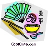 Vector Clip Art image  of a Chinese food