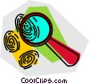 magnifying glass and fingerprints Vector Clipart picture