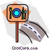 street signs Vector Clipart illustration