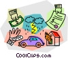Vector Clip Art image  of a Insurance papers