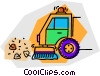 Vector Clipart picture  of a street sweeper