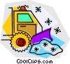 snow plow Vector Clipart illustration