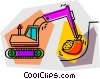 Vector Clipart graphic  of a backhoe