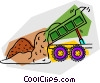 dump trucks Vector Clipart illustration