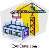 Vector Clip Art graphic  of a construction crane