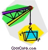 Vector Clipart image  of a construction crane