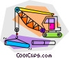 Vector Clipart picture  of a construction cranes