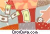 Vector Clip Art image  of a business concept money