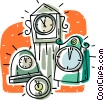 clocks Vector Clipart illustration