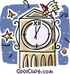 Vector Clip Art image  of a clocks