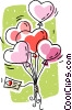 Vector Clip Art picture  of a heart shaped balloons