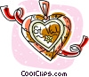 Vector Clipart graphic  of a St.. valentines day necklace