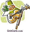 hat with a shamrock and fiddle Vector Clip Art picture
