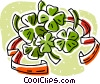 three and four leafed clovers Vector Clip Art picture