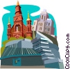 Montreal, Canada Vector Clipart illustration