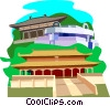 MONK JIANZHEN Memorial Hall Shanghais museum Vector Clipart graphic