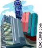 Yuehai Building, Aerospace Building, The Pacific Hotel Vector Clipart graphic