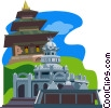 Hindu Dominance on Mauritius, Durbar Square Temples Vector Clip Art image