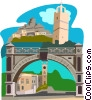 Parliament in Bridgetown BARBADOS Vector Clipart graphic