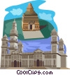 BURMA, Relics of a Splendid Past in Burma Vector Clipart picture