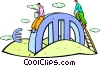 Vector Clip Art image  of a financial ups and downs of