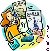Travel agent booking vacations Vector Clipart picture
