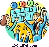 Vector Clipart image  of a people buying and selling