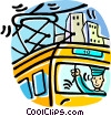 street car with driver in the window Vector Clip Art graphic
