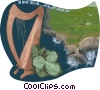 Vector Clip Art graphic  of a Ireland postcard design