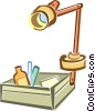 desk lamps Vector Clip Art graphic