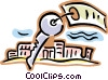 key on a key ring Vector Clipart picture