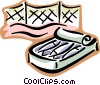 Vector Clip Art picture  of a can of sardines