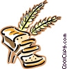 bread and wheat Vector Clipart graphic