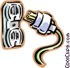 plug Vector Clipart illustration