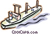 Vector Clipart image  of a cargo ship