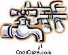 Vector Clip Art picture  of a faucets