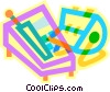 rolodex and telephone Vector Clip Art picture