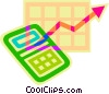 Vector Clipart graphic  of a calculator and adding machines