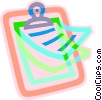 Vector Clipart illustration  of a clipboard and papers