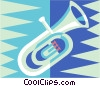 Vector Clip Art picture  of a tuba