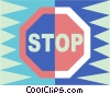 stop sign Vector Clipart picture