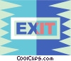 Vector Clipart graphic  of a exit sign