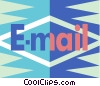 e-mail symbol Vector Clipart picture