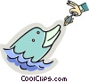 Vector Clipart illustration  of a Dolphins