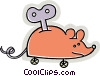 Vector Clipart illustration  of a wind up mouse