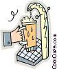 draft beer Vector Clipart illustration