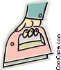Vector Clip Art graphic  of a iron