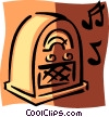 Vector Clipart image  of an antique radio