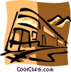 trains Vector Clipart illustration
