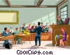 trial scene Vector Clipart illustration
